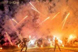 огненное шоу кантри